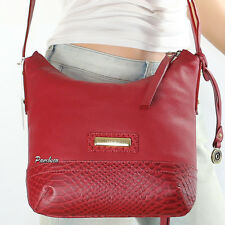 NWT Isabella Fiore Margo Leather Studs Shoulder Bag Crossbody IF155333 Red New