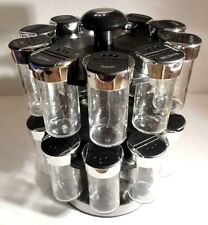 KAMENSTEIN 20 Jar Spice Rack Holder Revolving Carousel Spinning Lazy Susan #33