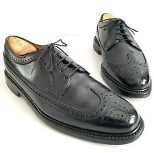 Florsheim Royal Imperial Black Long Wings V-Cleat 5 Nail Oxfords 96624 Mens 9 3E