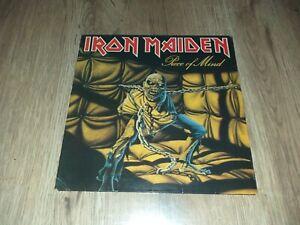 "LP HEAVY METAL IRON MAIDEN ""PIECE OF MIND"" 1983 FRENCH"