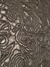 Embossed Swirl Knitted Jacquard Fabric (Sold as Seen)