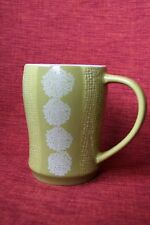 Starbucks coffee Mug Lime green weave 2007 12 fl oz St Patrick Spring