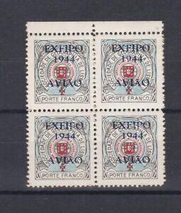 Portugal - Geographical Society Nice Block of 4 MNH 3