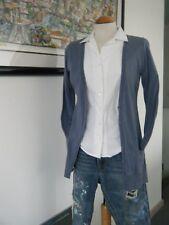 Leichte Weste Überwurf  Shirt Jacke  Blau  COMMA Gr  36