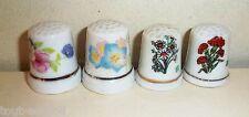lot de dés à coudre, dé de collection, porcelaine, fleurs , thimble ***4B
