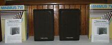 Vintage Pair Realistic Minimus 7W 40-2039C Bookshelf Speakers Walnut Wood Work