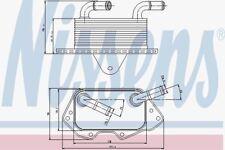 Nissens 90662 Enfriador de aceite AUDI A4 07