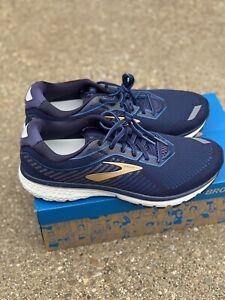 Brooks Ghost 12 Running Shoe Size 12 EE Wide Men's Navy/deep Water/gold