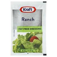 Kraft Ranch Salad Dressing Fat Free (1.5oz Packets, Pack of 60)