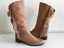 SEE BY CHLOE CAMEL FRINGE BOOTS, SIZE 41