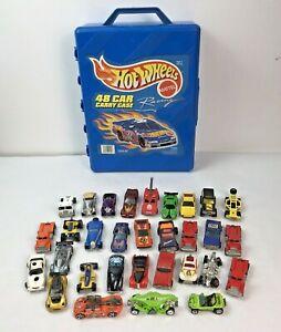 Hot Wheels 1999 Mattel 48 Car Carry Case W/ 31 Vintage Hot Wheels Cars