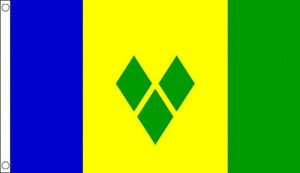 3' x 2' St Vincent and The Grenadines Flag Caribbean Country Banner