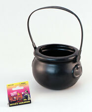 Witch Witches Halloween Plastic Cauldron Sweet Pot Fancy Dress Costume Accessory