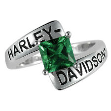 Harley-Davidson® May Birthstone Ring - Faux Emerald - size 6  D4J8810