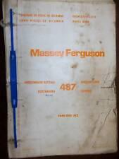 Massey Ferguson 487 : catalogue de pièces 1973/75