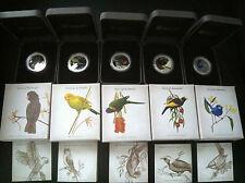 2013 BIRDS OF AUSTRALIA  5 COIN SILVER PROOF COIN SET