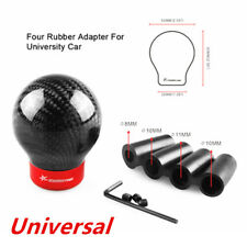 Carbon Fiber Round Ball Shape Universal Car Gear Shift Knob Shifter Lever Latest