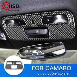 Carbon Fiber Roof Light Lamp Switch Panel Cover For Chevrolet Camaro 2016 - 2019