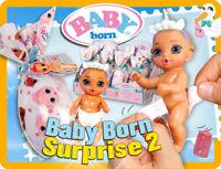 Zapf BABY born® Surprise  Serie 2 Puppen komplett Set alle 12 Figuren