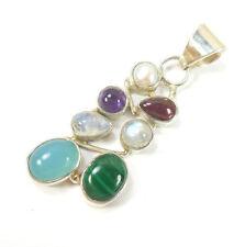 "Less than 13"" Natural Moonstone Fine Necklaces & Pendants"