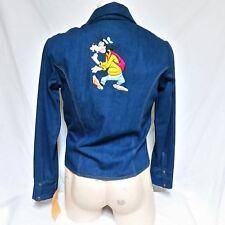 0f0b9308f6 VTG 70s Antonio Guiseppe Denim Jean Jacket Walt Disney Goofy Coat Paneled  Ski XL