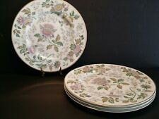 "Set of 4 Wedgwood Avon W3983 Multicolor Dinner Plate 10.5"" - Excellent"