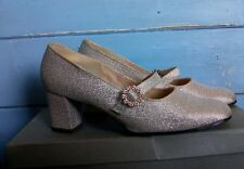 K Shoes Vintage Gold Lame Pandora Fireflies Wedding Shoes