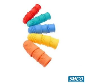 10 THIMBLETTES Quality Rubber Thimble Cone FINGER TIP PROTECTION Grip Aid SIZE