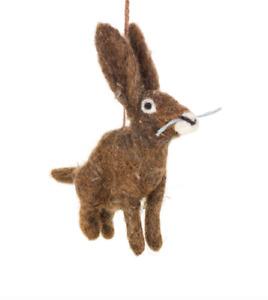'Herbert the Hare' Felt So Good Handmade Fair Trade Felt Hanging Decoration