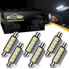 6x White 42MM Festoon 5050 LED Light Dome 4SMD Error Free Car Interior Bulbs 578