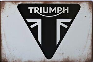 Triumph Motorcycle Metal Garage Sign Wall Plaque Vintage mancave