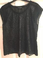 Zara Black Top Size S