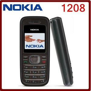 Unlocked Nokia 1208 1.5 in Mobile Phone Dualband Original GSM 900 / 1800