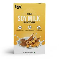HYE FOODS Vegan Soy Milk Powder | 49% Protein | Unsweetened | 17.6 Oz | 500g