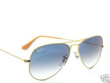 RAY BAN SunglaSSeS 3025 Rayban 001/3F  Gold/BLUE Gradient LARGE AVIATORS 58