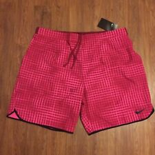 "NWT Nike Court Gladiator Printed 9"" Tennis Shorts 816056-620 Federer Nadal NEW L"