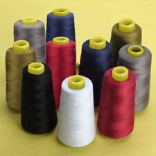 Black Baoblaze Sewing Thread for Sewing and Embroidery Machine All Purpose Polyester Thread Cone for Quilting Serger Overlock 8000 Yards Each