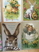 25 Antique Postcards- EASTER- Adorable Bunny Rabits, Eggs and Chicks Wonderful