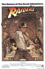 INDIANA JONES ~ RAIDERS OF LOST ARK 1982 27x40 MOVIE POSTER Harrison Ford Amsel