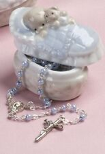Baby's Porcelain Keepsake Box and Rosary for Boy