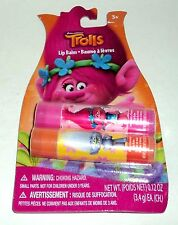 TROLLS Lip Balm Duo STRAWBERRY & BERRY Flavored New In package