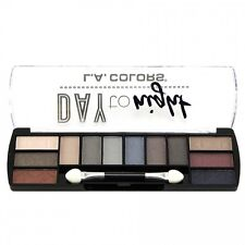 L.A. Colors Makeup Long Lasting Day to Night Eyeshadow Palette CES431 Evening