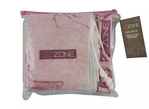 GoZone Travel Yoga Set NON-SLIP PRINTED Pink Combo YOGA TOWEL SET NWT