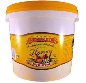 Red gum honey, 3 kilo tub, free shipping, Archibalds, 100% Australian honey