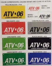 Custom Laser Engraved ATV License Plate