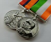 King and Queen's South Africa War Medals. Victoria, Edward VII, Boer War. Silver