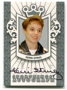 2013 Sportkings Autographs Silver kst1 Kerri Strug Auto /30