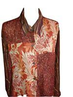 Women's 3X tunic  shirt/jacket  long sleeves semi sheer Koos of Course