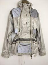 GIORGIO ARMANI Neve jacket Coat Silver Reflective Zips Ski Winter RARE 40 Uk 12