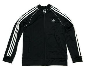 Adidas Originals SST Track Jacket Kids L 13-14 Black with White Stripe Zip Front